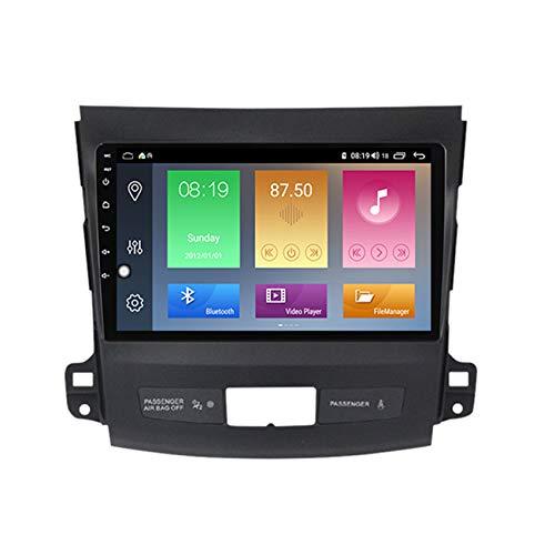 Amimilili Android Autoradio para Mitsubishi Outlander 2006-2014 con Multimedia Estéreo GPS Navegación Radio USB Manos Libres Bluetooth/WiFi/SWC + Cámara De Visión Trasera,M600 6+128g