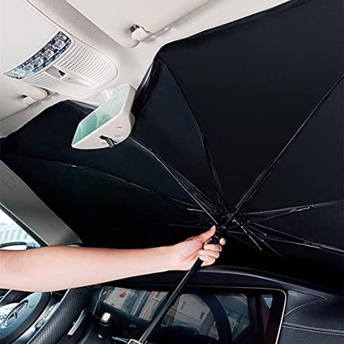 Auto Sonnenschutz Sonnenschirm Auto Windschutzscheibenschutz Zubehör VW Golf 5 6 7, für Passat B5 B6 B7 Polo T5 Bora T-ROC, für Jetta