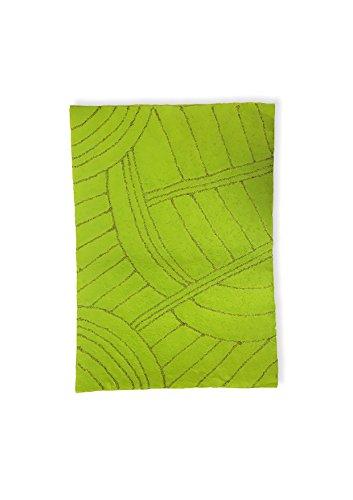 Staufen Kubis Apple Green – handgeschept papier met kiwi-zaden, 55 x 80 cm