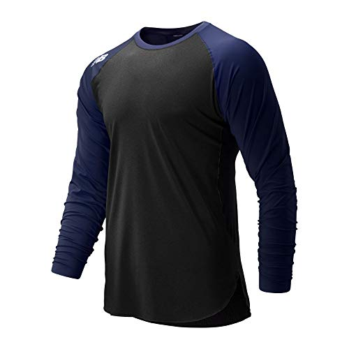 New Balance Men's 4040 Baseball Select Long Sleeve, Team Navy, M