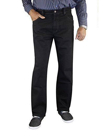 Wrangler Jeans Texas Black Overdye Elasticizzato W12109004 - cotone, Nero (BLACK OVERDYE), 98% cotone 2% elastane 2% spandex 98% cotone, Uomo, 36W / 30L
