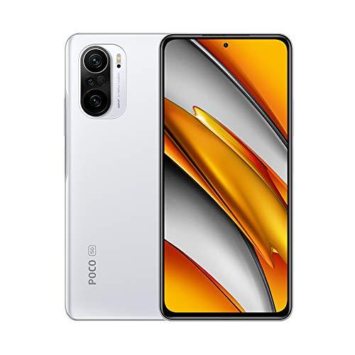 """Xiaomi Poco F3 Smartphone 6GB+128GB, cámara de 48MP, Snapdragon 870G,Pantalla AMOLED de 6,67"""", 4520 mAh Batería,versión Global (Blanco)"""