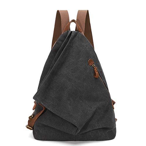 Canvas Vintage Backpack – Large Casual Daypack Outdoor Travel Rucksack Hiking Backpacks...