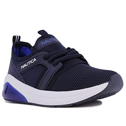 Nautica Kids Light Up Flashing Sneaker Athletic Lace-Up Running Shoes Boy Girl Little Kid Big Kid-Parks Buoy Lights-Navy Cobalt-11