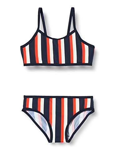 NAME IT Mädchen NMFZTRIPE Bikini-Set, Dark Sapphire, 86/92