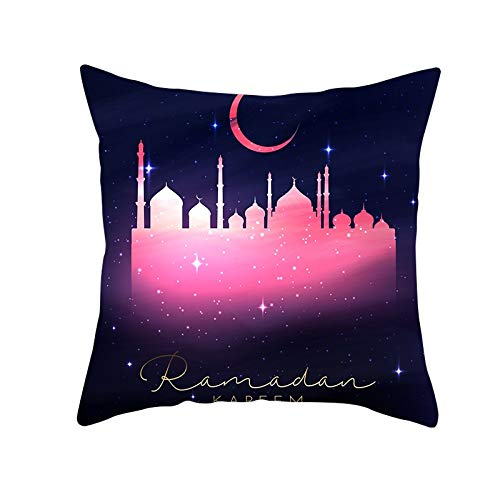 Cushion Cover Decor Throw Pillow Covers Moonlight Castle Square Velvet Soft Double Sided Cushion Covers with Invisible Zipper for Sofa Bedroom Decor Throw Pillowcases M11006 Pillowcase,55x55cm