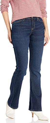 Signature by Levi Strauss & Co Women's Modern Boot Cut Jeans, Stormy Sky, 16 Long