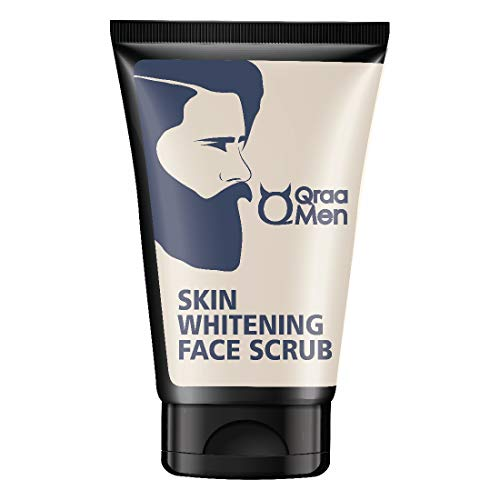 Qraa Men Vitamin C Skin Whitening Face Scrub with Yogurt and Oatmeal, 100 g