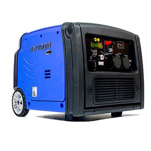 Hyundai HY3200SEi 3.2kW / 4kVA Portable Remote and Electric Start Inverter Generator, 3.2 W, 230 V, Blue