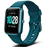 "Lintelek Smart Watch with 1.3"" LCD Full Touch Screen, Large Screen Fitness Tracker with Heart Rate Monitor, Pedometer, Sleep Tracker, Waterproof Activity Tracker for Men, Women and Gift (Green)"