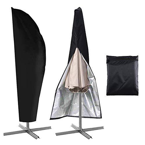 Ampelschirm Schutzhülle für 3-3,5m Sonnenschirm Schutzhülle Abdeckung Wasserdicht mit Reißverschluss, 420D Oxford Ampelschirmhülle Schutzhülle für Glatz Gardenline Sonnenschirm Marktschirm UV-Schutz