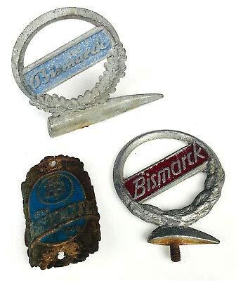 generisch Steuerkopfschild Embleme Bismarck 3 Stück Fahrrad Schutzblech alt Marke Sammler