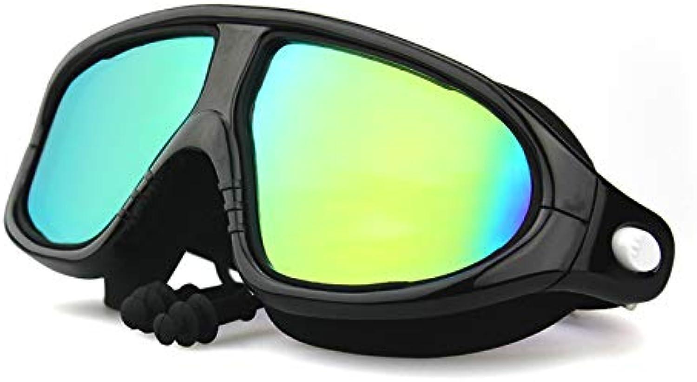 Jameslbj-Goggles Groen Rahmen Mit Ohrenstpsel Hd Anti-Fog wasserdichte Uv Mnner Und Frauen Tauchausrüstung Verbunden