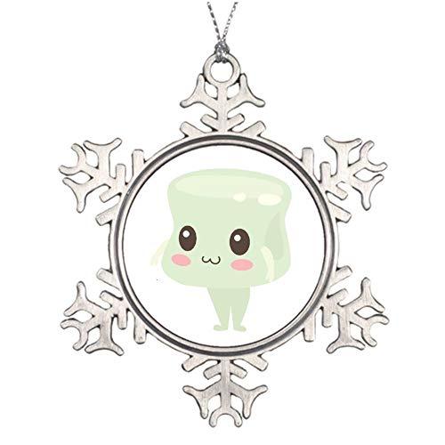 qidushop Christmas Ornaments Holiday Tree Ornament Marshmallow Person Snowflake Ornament Crafts Christmas Decoration