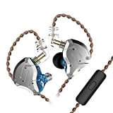 KINBOOFI KZ ZS10 Pro in Ear Monitor Headphone, KZ HiFi Earbuds Headphone with 4 Balanced Armatures and 1 Dynamic Drivers for Drummer Musician (Blue with Mic) microphone earbuds Apr, 2021