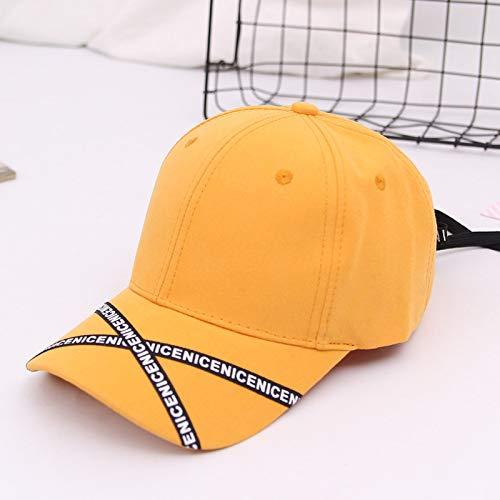 mlpnko Gorra de bisbol Cordones Casuales Gorra Inglesa Sombrero de Hip Hop Sombrero de sombrilla Amarillo Ajustable