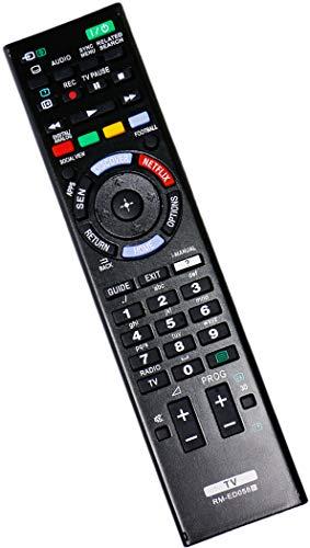 ALLIMITY RM-ED058 Fernbedienung Ersetzen für Sony KD-49X8505B KD-55X9005B KD-75S9005B KD-79X9005B KDL-24W605A KDL-32W603A KDL-32W653A KDL-32W654A KDL-32W654A