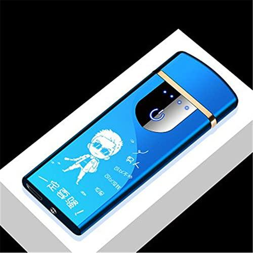 MUYEY Novedad Eléctrica Táctil Sensor De Tacto Frío Encendedor USB Recargables Portátiles A Prueba De Viento A Prueba De Viento Accesorios para Fumadores,7