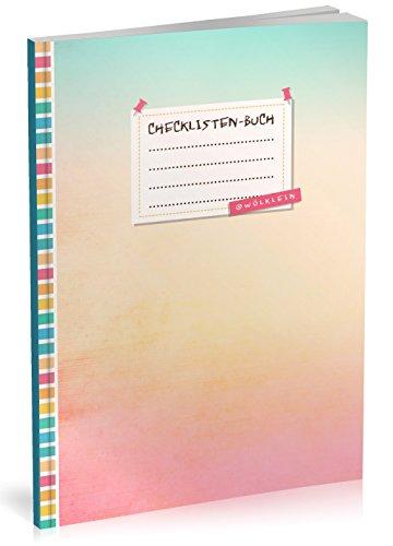 """Checklisten-Buch: To Do Listen Planer   Ca. A5 Softcover   70+ Seiten mit Titel, Datum & Register   Perfekt für Aufgaben zum Abhaken, Leselisten, Packlisten uvm.   Motiv """"Farbverlauf"""""""