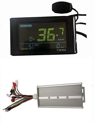 48V/72V 3000W 5000W 80A Sine Wave Brushless DC Motor Controller Ebike Controller +VM960 Color Display One Set,Used for 3000W, 5000W Ebike Kit.