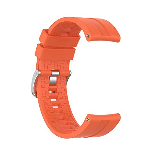 YOKING Huawei GT 2 (46 mm) - Correa de silicona a cuadros 22 mm para hombre, pulsera para mujer, accesorios de reloj
