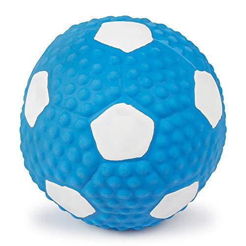 NA Dog Squeak Toys Sports Football Interactive Toy Dogs - Juguete de látex para perros (9 cm), color azul