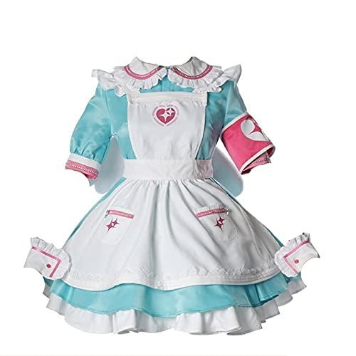 Cosplay Lolita Anime Girl Cosplay Disfraz de mucama Personalizado Halloween Carnaval Disfraz Unisex Traje mucama (Color : Female, Size : M)
