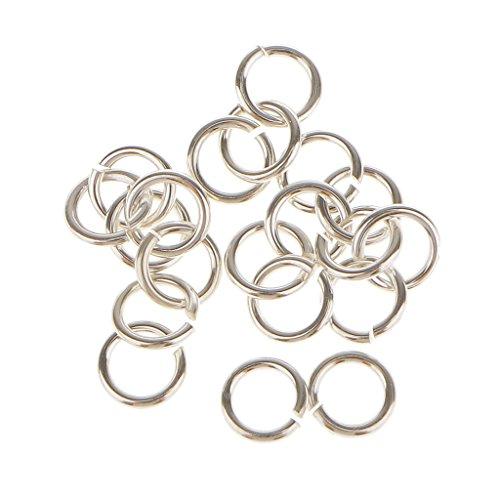 harayaa 20pcs Open Rings Jump Rings for DIY Jewelry Making - Multi, 4mm