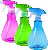 90's Club ™, 3 piezas 500 ml, botellas de spray, pulverizador de gatillo con neblina, mo...