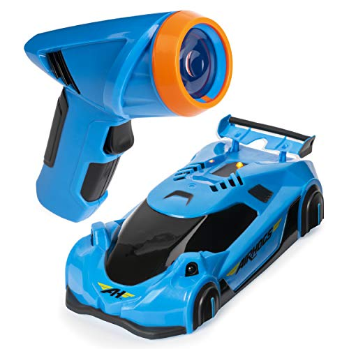 Air Hogs, Zero Gravity Laser-Guided Real Wall Climbing Remote Control Race Car, Blue
