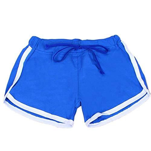 W.Z.H.H.H Brèves Sportives Femmes Yoga Sport Shorts en Vrac Coton fendus Taille élastique Femmes Shorts Taille Plus Workout Gym Leggings (Color : LW, Size : L)