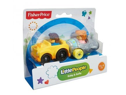 Fisher-Price - Set 2 véhicules Wheelies Little People - Koby et Sofie