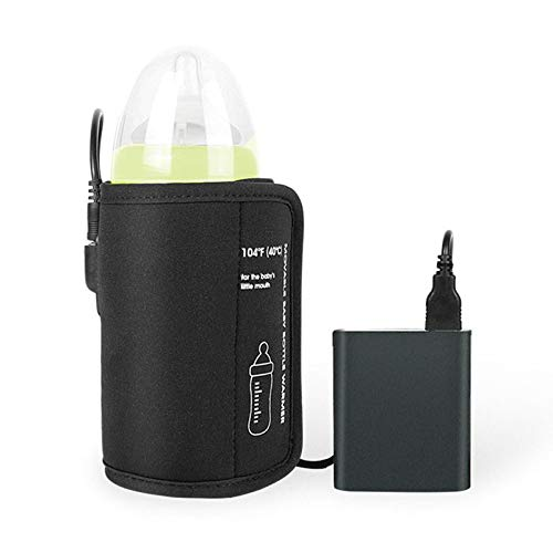 USB Baby Bottle Warmer, Kozigoods DC 5V USB Heating Portable Car Travel Milk Bottle Warmer, Keep Baby Milk Warm (Black)