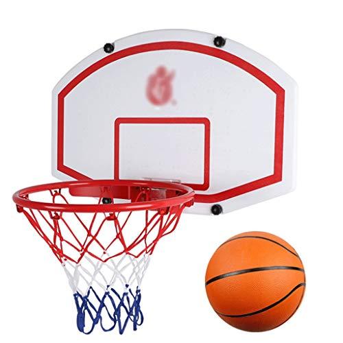 Nostalgie Baloncesto de Baloncesto de Mini Baloncesto para Puerto de Baloncesto para Sala de Baloncesto para Puerta con Bolas y Accesorios Incluidos 23x15inches