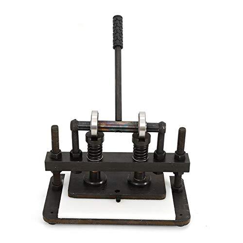Fetcoi 26 cm x 12 cm Máquina de cortar cuero de doble vástago manual de corte y gofrado para cuero