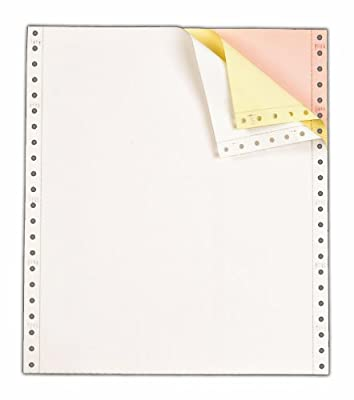 TOPS Continuous Computer Paper, 3-Part Carbonless, Removable 0.5 Inch Margins, 9.5 x 11 Inches, 1100 Sheets, White/Canary/Pink (55179)