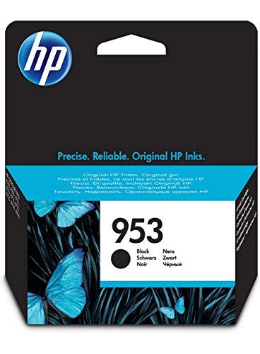 HP 953 Black Original Ink Cartridge - Cartucho de tinta para impresoras (Negro, Estándar, HP,...