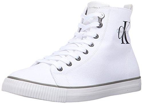 Calvin Klein Jeans Arthur, Sneaker da Uomo, Colore Bianco (White), Taglia 42 EU (8 UK)