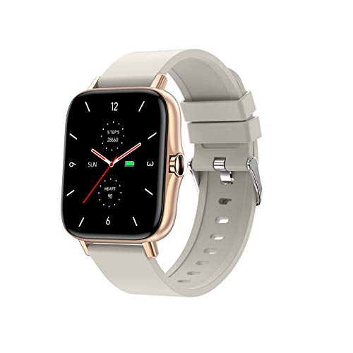 TWW Smart Watch für Männer Frauen Version IP68 Wasserdicht, Monitor Sport Digitaluhr, Smartwatch für Handys,Weiß