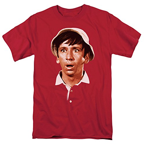 Popfunk Gilligan's Island TV Show Gilligan Surprised Face T Shirt (Large) Red