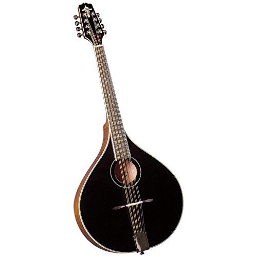 Trinity College TM-325B Standard Celtic Octave Mandolin with Hardshell Case - Black Top