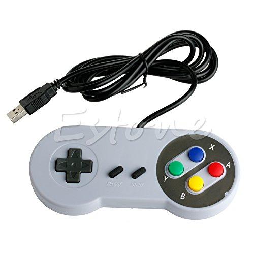 ZIRAN Manette de Jeu USB Super contrôleur Joypad pour Famicom Nintendo SF Snes PC Windows Mac