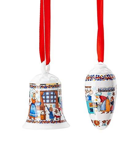 Hutschenreuther Glocke + Zapfen 2020 Weihnachtsbäckerei Porzellan Weihnachten -