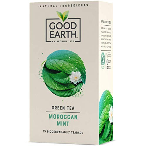 Good Earth - Moroccan Mint Tea – Refreshingly Natural - Herbal Tea - Pack of 5 x 15 Biodegradable Teabags