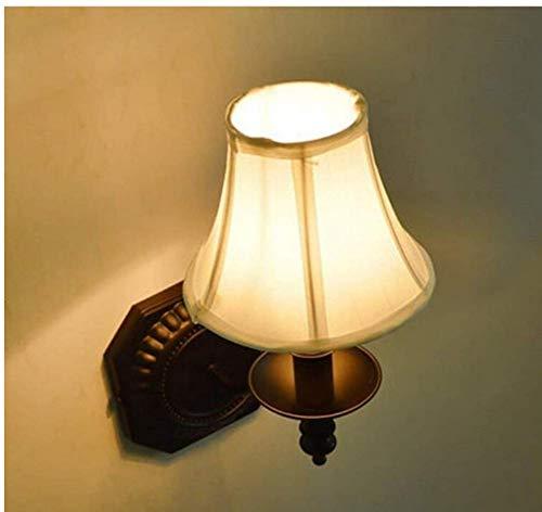 Wandlamp retro imitatie kaars wandlamp hal wit stoffen kap