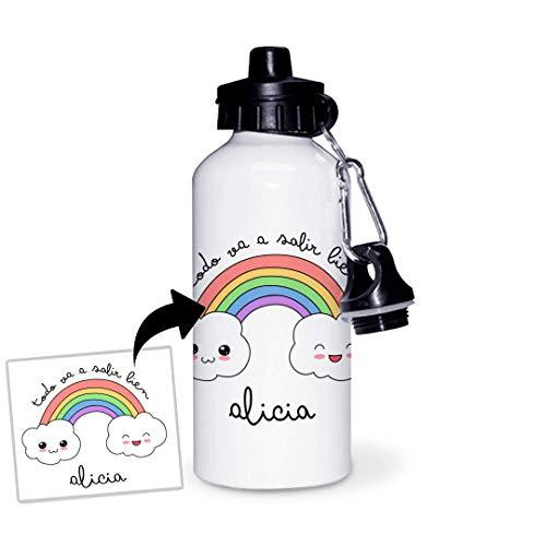 Botella de Aluminio Personalizada Infantil Todo Va A Salir Bien (600ml)