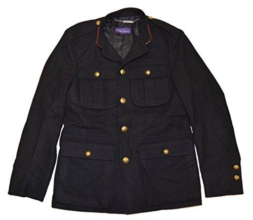 Ralph Lauren Purple Label Men Military General Jacket Wool Italy Black Red Small