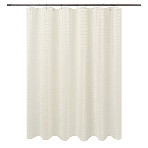 Barossa Design Fabric Shower Curtain Cream Hotel Grade,...