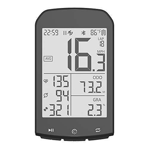 Kanqingqing-Sport Cuentakilómetros para Bicicleta Bicicletas GPS inalámbrico Bluetooth Cronómetro Cronómetro Luminoso Impermeable...