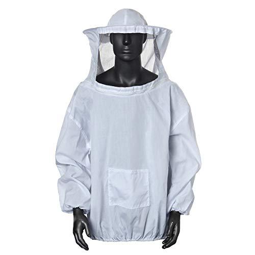 Xrten Chaqueta de Apicultor Traje de Apicultor Profesional,Blanco